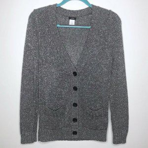 J.CREW Cardigan Medium Metallic Foiled Sweater